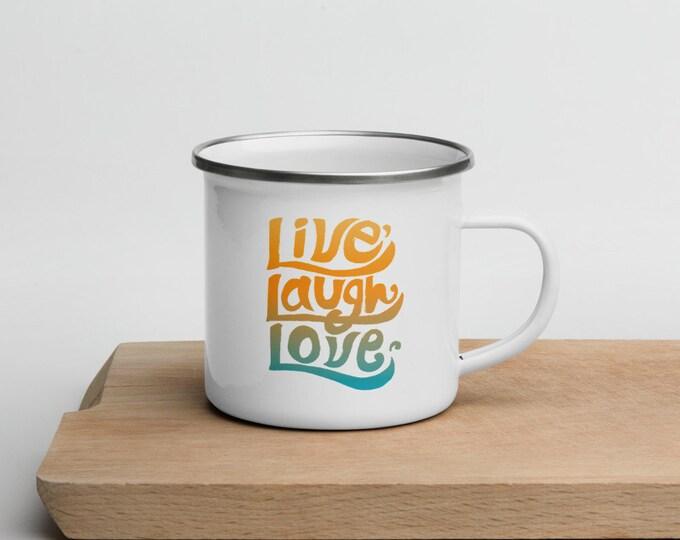Live laugh love, Enamel Mug