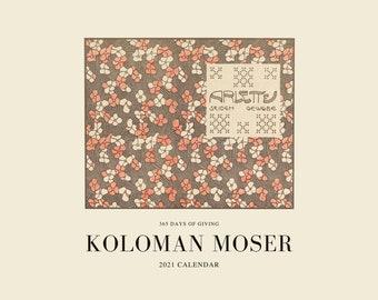 Koloman Moser 2021 Calendar, 365 Days of Giving