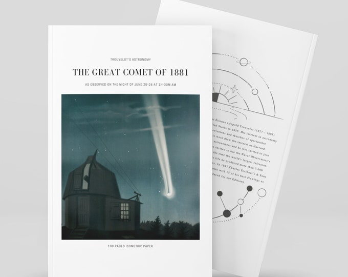 The great comet of 1881, Trouvelot's Astronomy Notebook, Isometric Paper