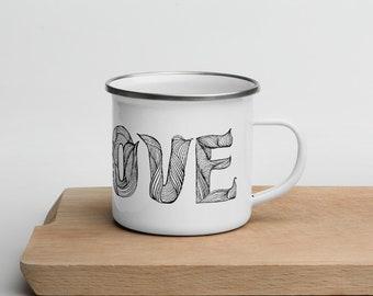 Groove, Enamel Mug