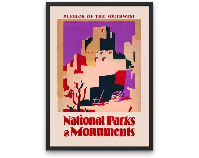 National parks and monuments Pueblos of the southwest, United States 1930-1940