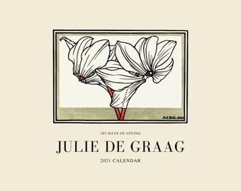 Julie de Graag 2021 Calendar, 365 Days of Giving