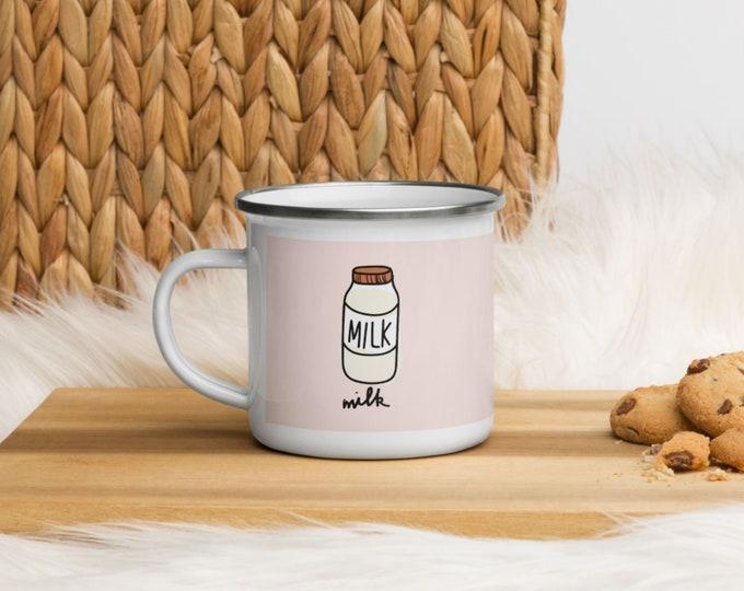 Milk Enamel Mug