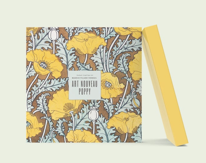 Art Nouveau Poppy: Visionary Maurice Pillard Verneuil Blank Notebook