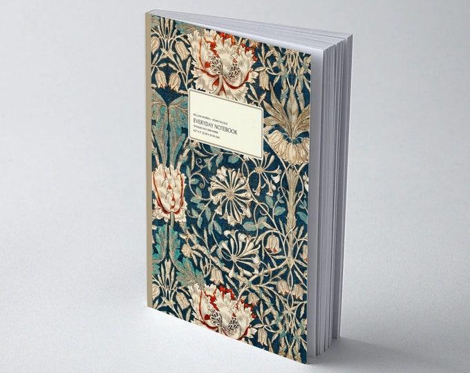 William Morris: Honeysuckle | Everyday Dot Grid Notebook | Dot Journal | Bullet Journal | Floral Notebook | Travel Journal | Stationary
