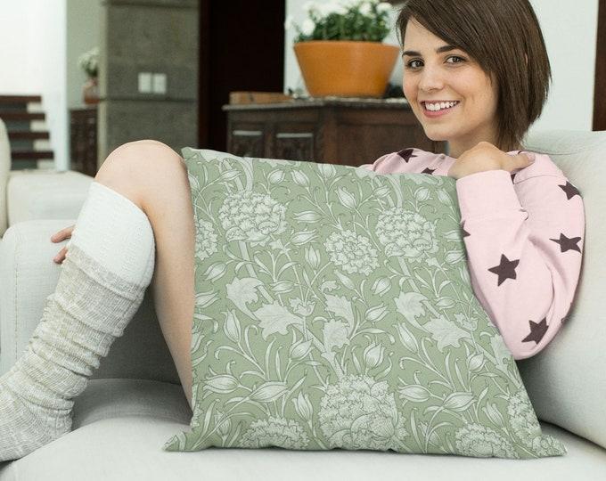 William Morris: Wild Tulip, Sage Pillow Case
