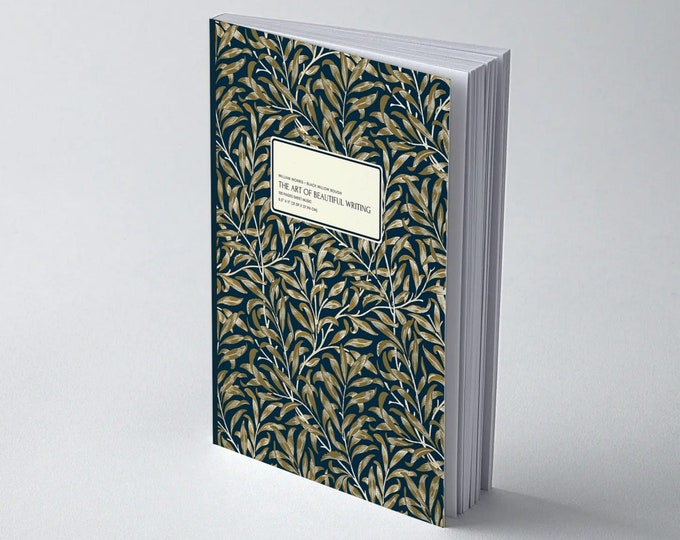 William Morris: Black Willow Bough, The Art of Beautiful Writing, Calligraphy Paper (slanted grid)