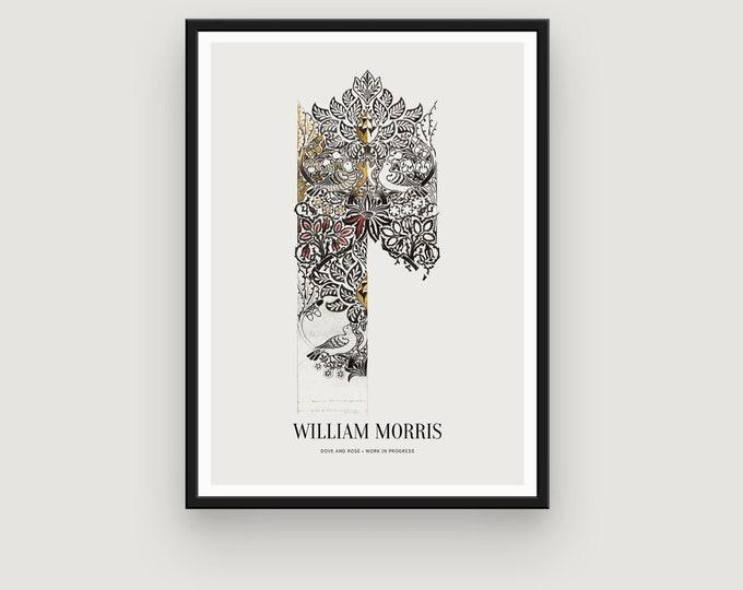 William Morris: Dove and Rose, Work in Progress
