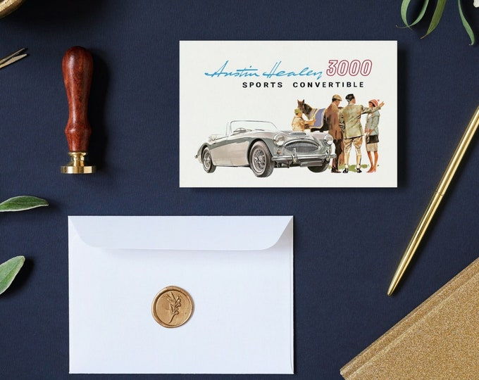 1963 Austin Healey 3000 Sports Convertible: Greeting Card Set