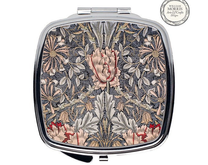 William Morris: Honeysuckle, Compact Mirror