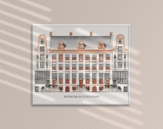 Amsterdam Canal Houses (Art Print)