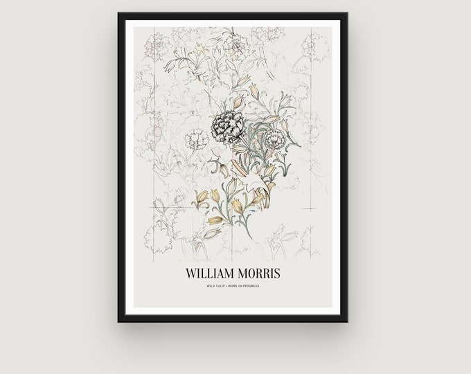 William Morris: Wild Tulip, Work in Progress