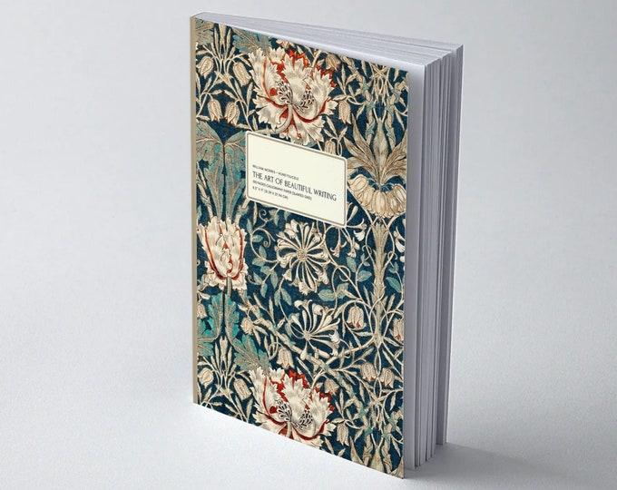 William Morris: Honeysuckle, The Art of Beautiful Writing, Calligraphy Paper (slanted grid)