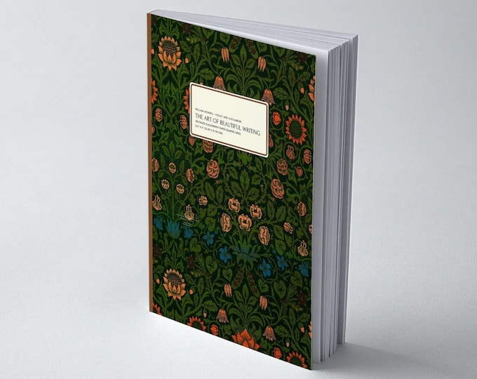 William Morris: Violet and Columbine, The Art of Beautiful Writing, Calligraphy Paper (slanted grid)