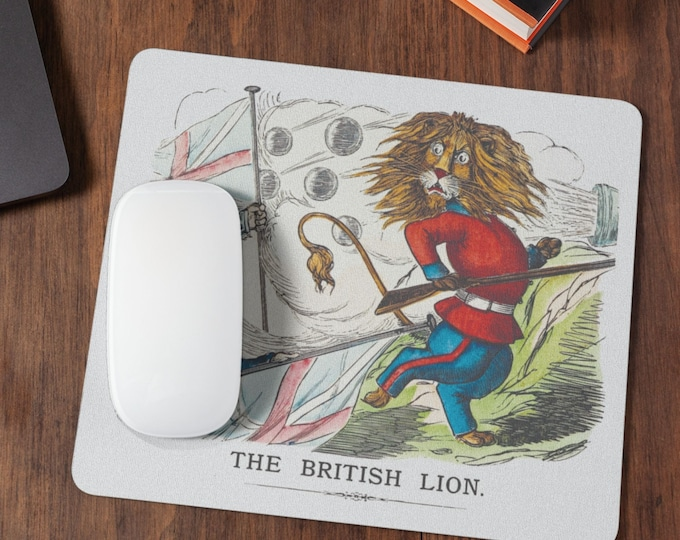 The British lion, cute and funny Mousepad