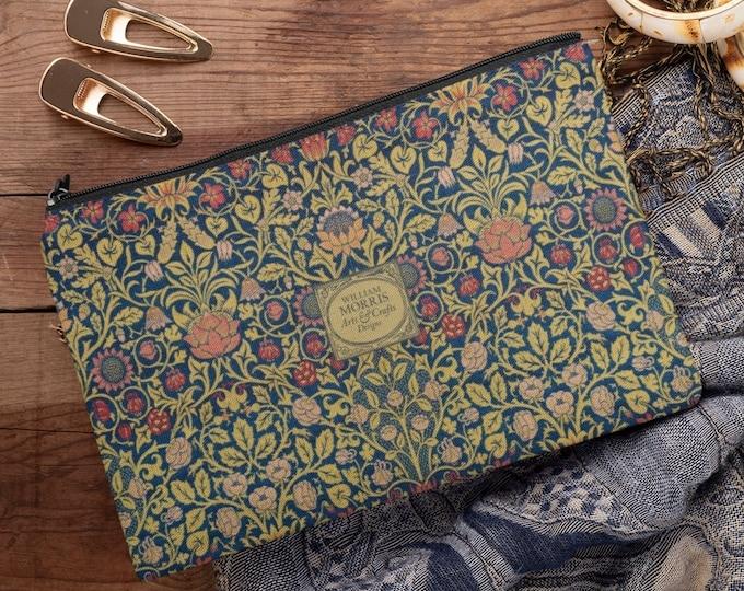 William Morris: Violet and Columbine, Zipper Pouch