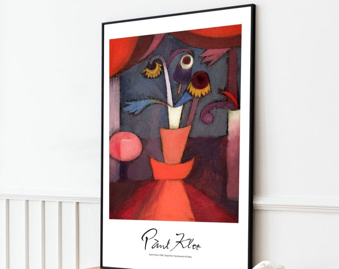 Paul Klee: Autumn Flower | Vertical Print | Wall Art | Office Décor | Art Print | Expressionism | Cubism | Surrealism