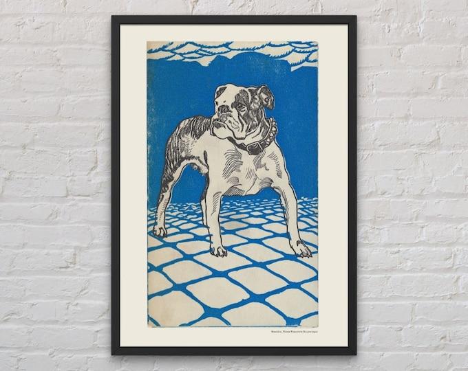 Moriz Jung: French bulldog | Dog lover gift | French bulldog art | Wall art | Vienna Secession | Wiener Werkstatte | Jugendstil