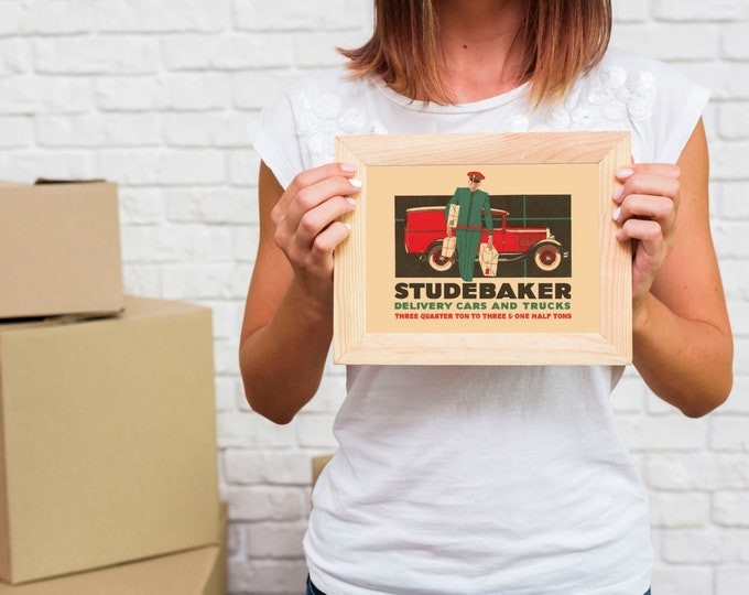 Studebaker Delivery Vehicles: Classic car poster | Classic car wall art | Classic car poster | Transport prints | Transport wall art