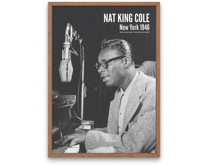 Nat King Cole: New York 1946 | Vertical Print | Wall Art | Office Décor | Art Print | Jazz Poster | The Golden Age of Jazz | Jazz Music