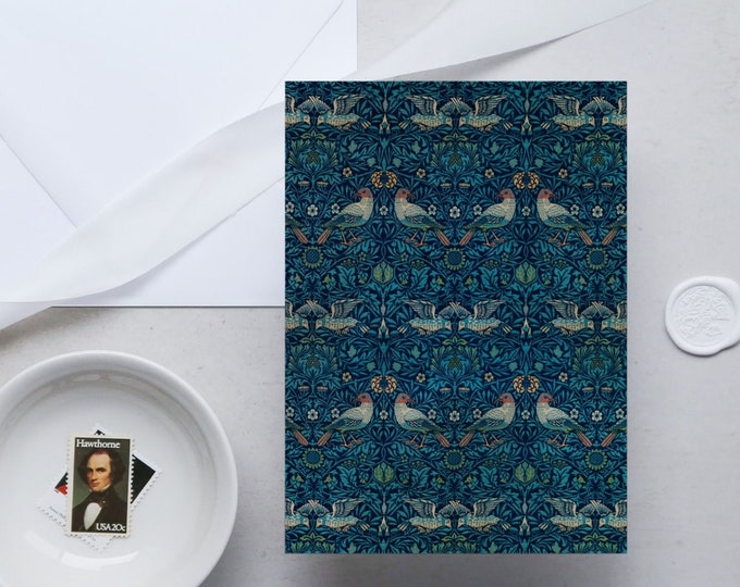 William Morris Greeting Card Set: Birds | Congratulation card | Blank Place card | Fine art greeting cards | William Morris gifts