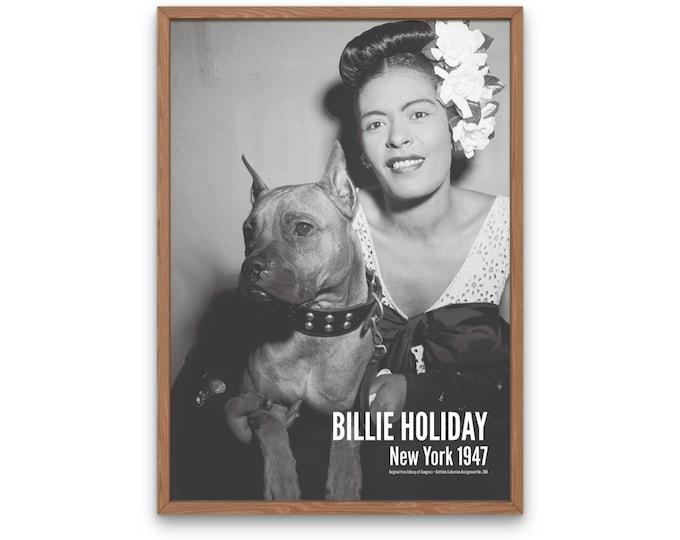 Billie Holiday: New York 1947 | Vertical Print | Wall Art | Office Décor | Art Print | Jazz Poster | The Golden Age of Jazz | Jazz Music
