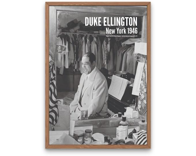 Duke Ellington: New York 1946 | Poster Print | Jazz Print | Jazz Musicians | Jazz Orchestra | Jazz Decoration | Music Lovers Art