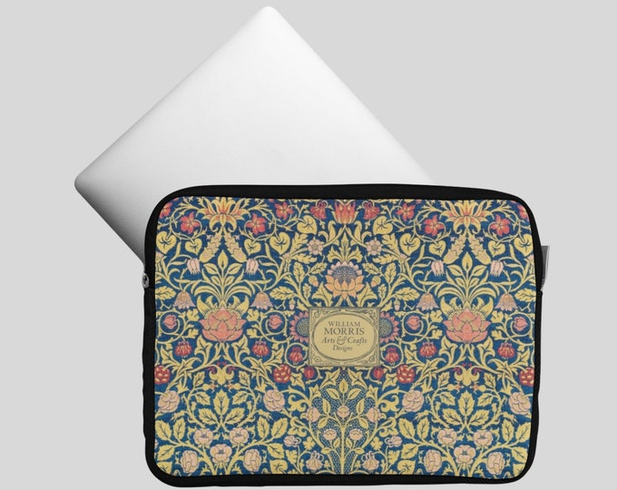 William Morris: Violet and Columbine | Notebook bag | Womens Laptop Bag | William Morris Gift | William Morris Print | Morris and Co