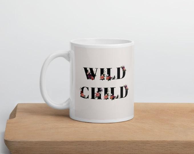 Wild Child: Personalized mug wedding   Personalized bridesmaid mug   Coffee mug   Ceramic mug   Best friends mug   Besties gift