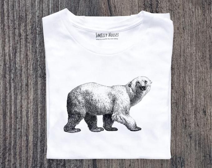 White bear | Retro Summer Shirt | Retro Beach Shirt | Summer Vibes Shirt | Gift for her | Graphic tee | Boho clothing | Retro shirt