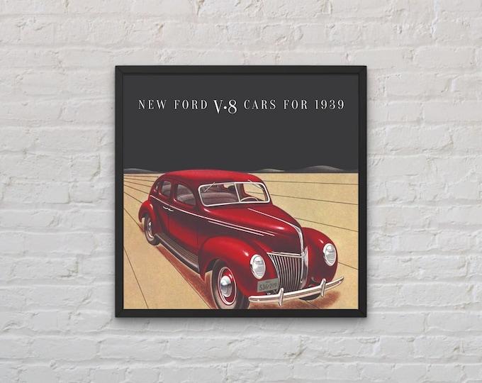 Ford: Classic car poster | Classic car wall art | Classic car poster | Transport prints | Transport wall art
