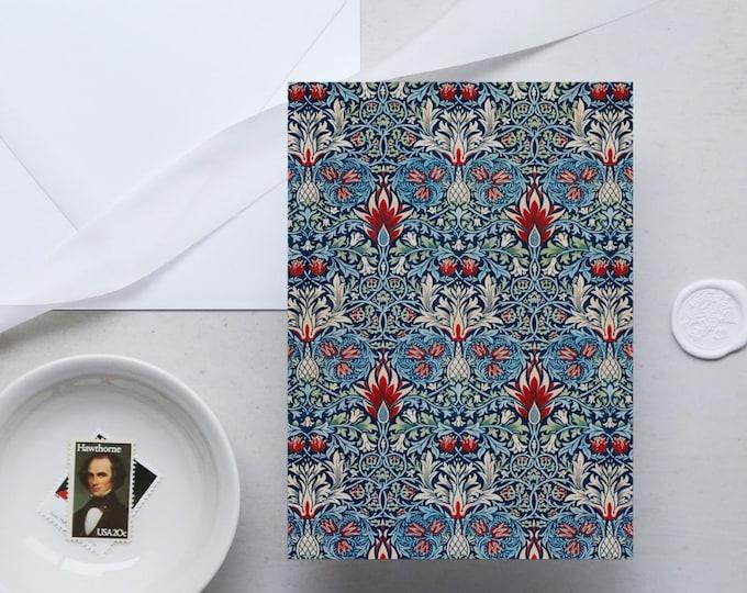 William Morris Greeting Card Set: Snakeshead | Congratulation card | Blank Place card | Fine art greeting cards | William Morris gifts