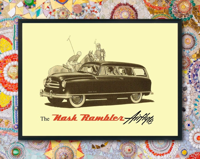 Nash Rambler: Classic car poster | Classic car wall art | Classic car poster | Transport prints | Transport wall art