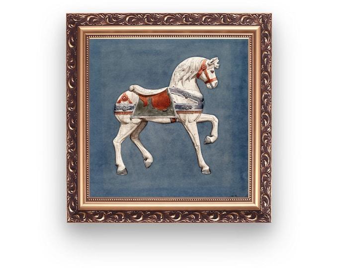 Modern Victorian home decor: Carousel Horse | Victorian inspired | Victorian homes | Victorian horse | Historic styles