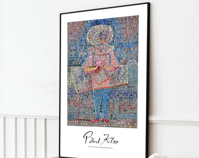 Paul Klee: Boy in Fancy Dress | Vertical Print | Wall Art | Office Décor | Art Print | Expressionism | Cubism | Surrealism
