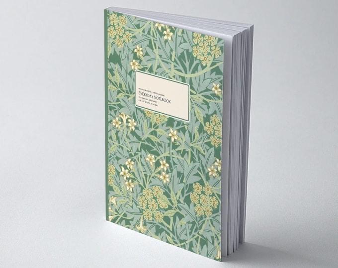 William Morris: Green Jasmine | Dot grid journal | Dot grid paper | Bullet Journal | Morris and co | William Morris gifts