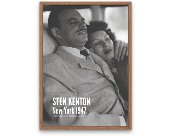 Stan Kenton: New York 1947 | Vertical Print | Wall Art | Office Décor | Art Print | Jazz Poster | The Golden Age of Jazz | Jazz Music