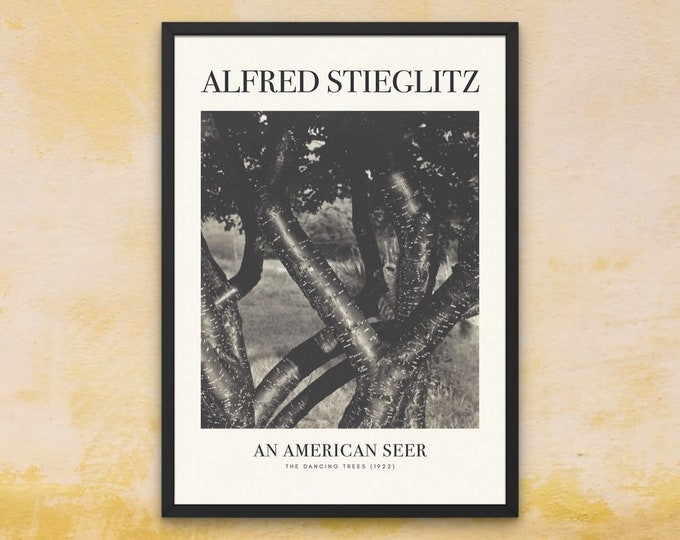 Framed Art Print | Alfred Stieglitz: The Dancing Trees | iconic photography prints | black and white fine art photography | above bed decor