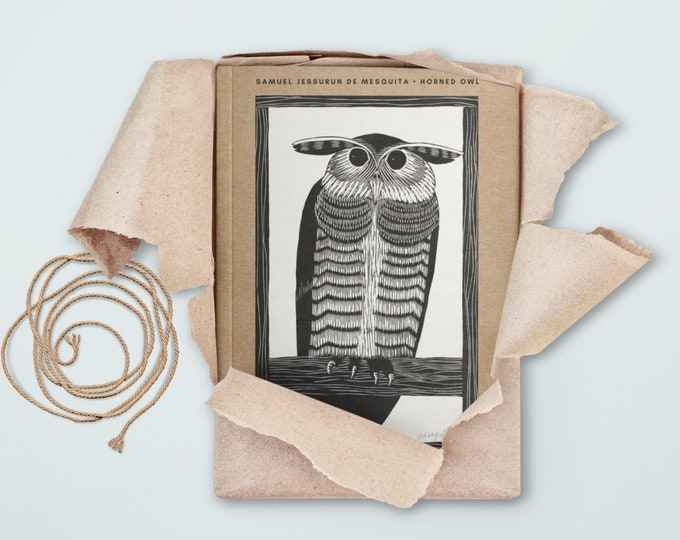 Samuel Jessurun de Mesquita: Horned Owl, blank journal