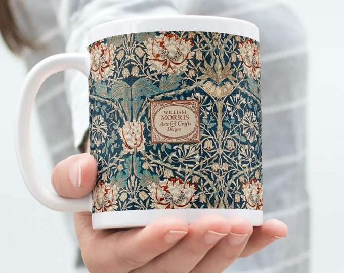 William Morris: Honeysuckle | Anniversary gift | Coffee mug | Farm house coffee table | William Morris Gifts | Gifts under 25