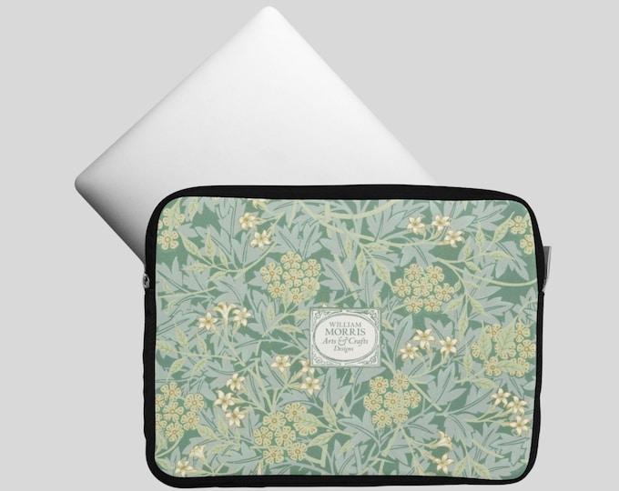 William Morris: Green Jasmine | Notebook bag | Womens Laptop Bag | William Morris Gift | William Morris Print | Morris and Co