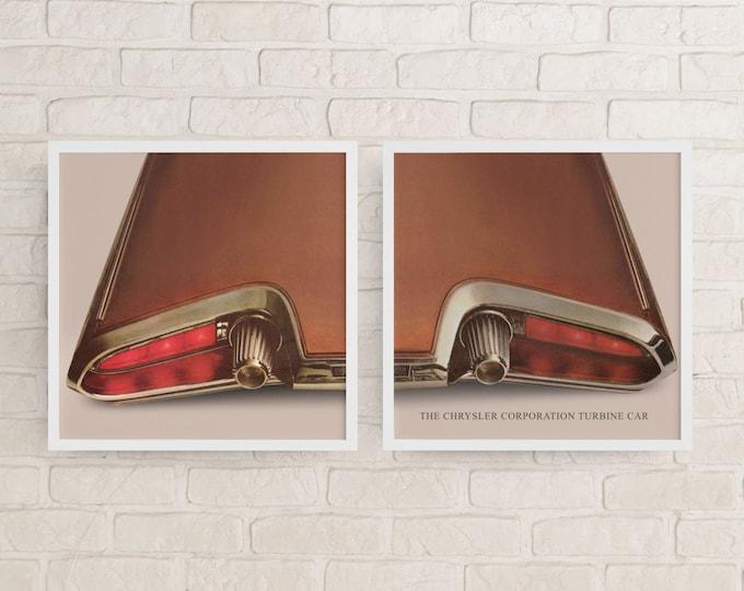 Chrysler Turbine Car: Classic car poster | Classic car wall art | Classic car poster | Transport prints | Transport wall art