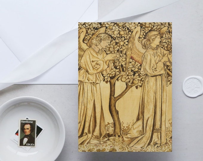 William Morris Greeting Card Set: Angels | Congratulation card | Blank Place card | Fine art greeting cards | William Morris gifts