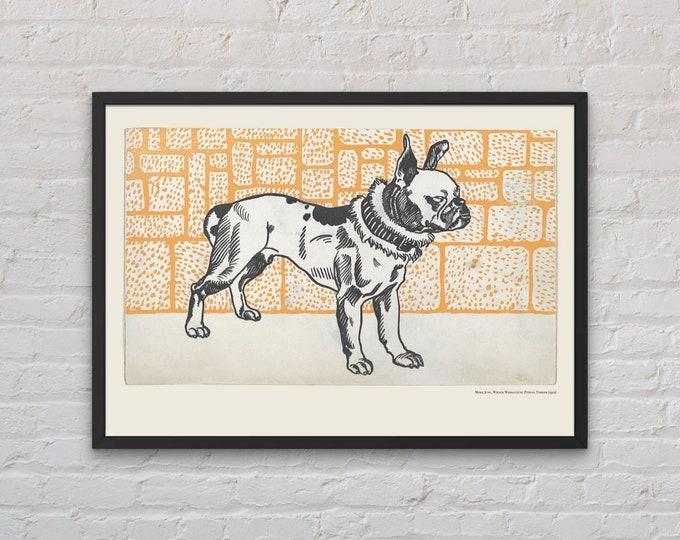 Moriz Jung: Pitbull Terrier | Dog lover gift | Art Prints | Wall art | Vienna Secession | Wiener Werkstatte | Jugendstil