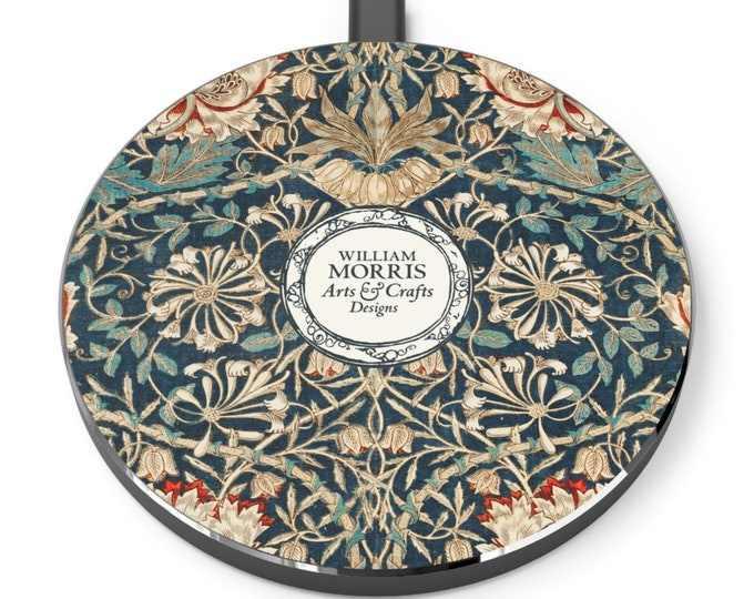 William Morris: Honeysuckle | Desk Accessories | Docking Station | Qi Charger | Qi Wireless Charger | Morris and Co | William Morris Gift