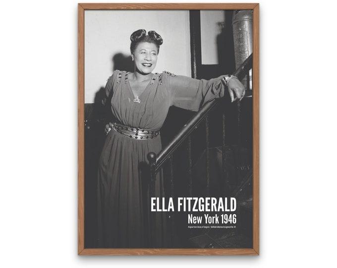 Ella Fitzgerald: New York 1946 | Jazz Musicians | Jazz Photo | Jazz Singer | Office Wall Art | Music Poster | Gift for Jazz Lover