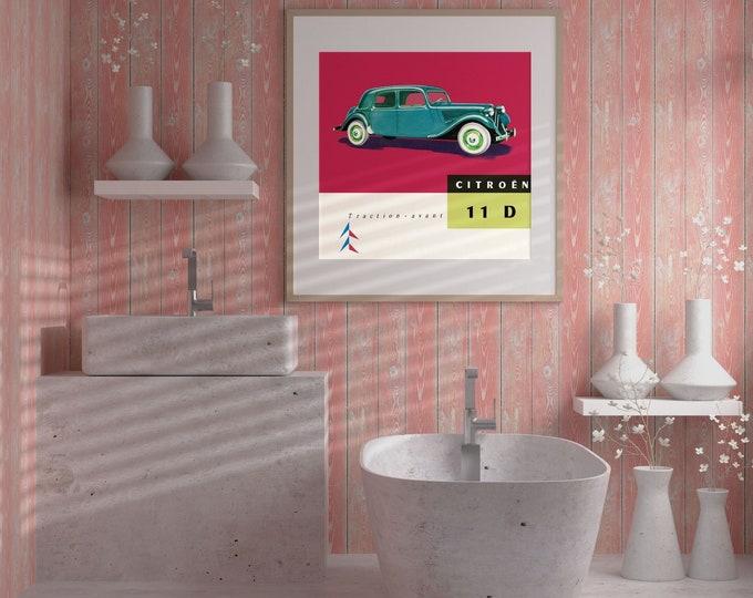 Citroën Traction Avant: Classic car poster | Classic car wall art | Classic car poster | Transport prints | Transport wall art