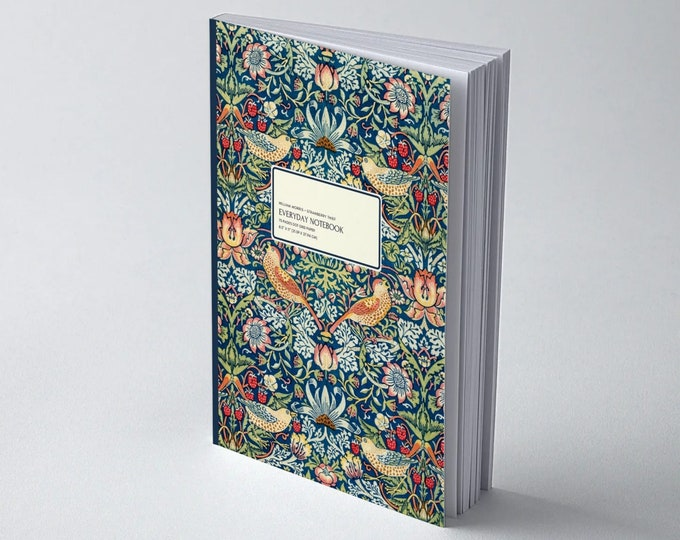 William Morris: Strawberry Thief | Dot grid journal | Dot grid paper | Bullet Journal | Morris and co | William Morris gifts