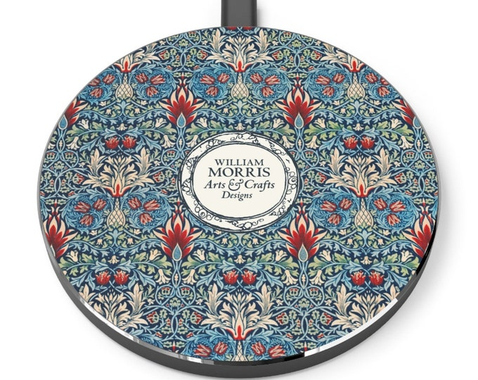 William Morris: Snakeshead | Desk Accessories | Docking Station | Qi Charger | Qi Wireless Charger | Morris and Co | William Morris Gift