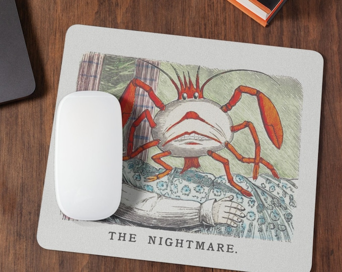 The Nightmare | Mouse Pad | Gaming Mousepad | Desk Organizer | Cute Desk Accessories | Cute Mousepad | Housewarming Gift | Coworker Gift